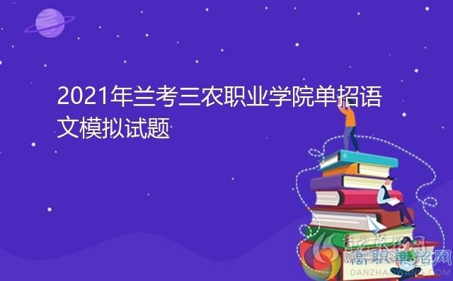 2021年兰考三农职业学院单招语文模拟试题