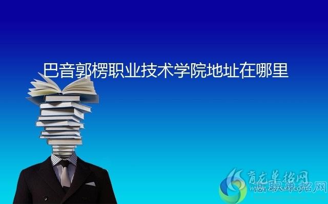 巴音郭楞职业技术学院地址在哪里